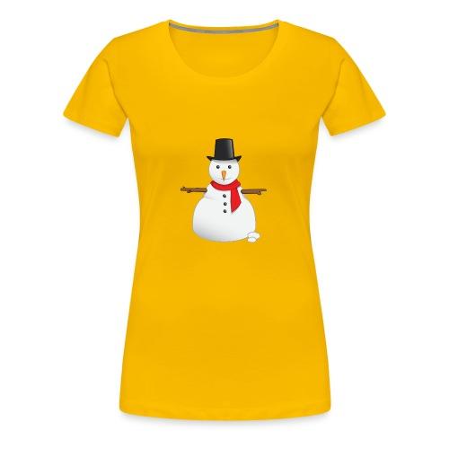 christmas-snowman-clipart-this-cute-snowman-clip-a - Women's Premium T-Shirt