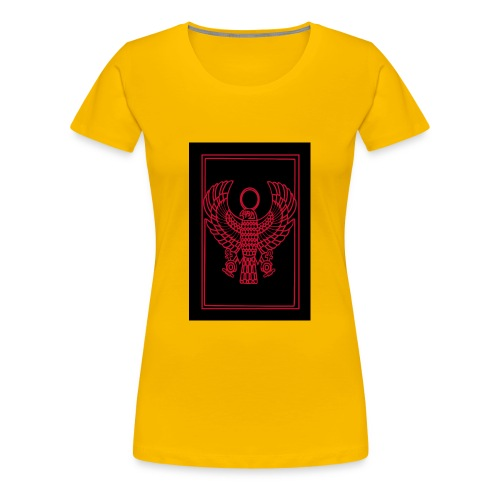 Heru- Horus (Ancient Mystery School KMT) - Women's Premium T-Shirt