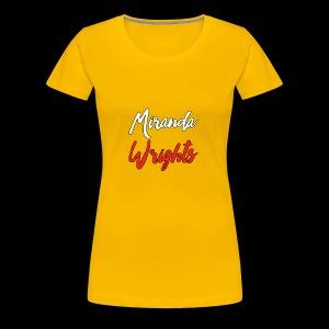 Miranda Wrights Logo - Women's Premium T-Shirt