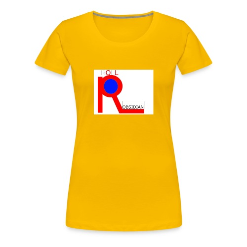 ROLL_OBSIDIAN - Women's Premium T-Shirt