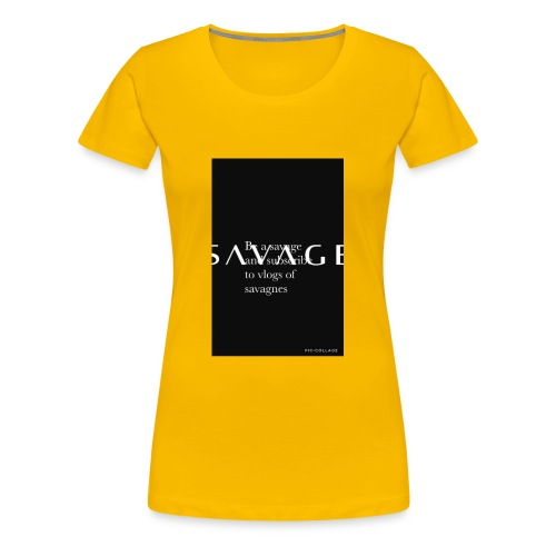 Subscribe to savage mide - Women's Premium T-Shirt