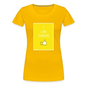 i like cheese - Women's Premium T-Shirt