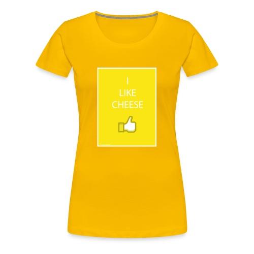 i like cheese - Women's Premium T-Shirt