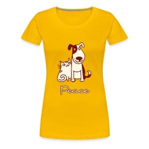 Dogs, cats, peace - Women's Premium T-Shirt