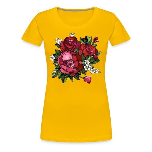 Flowers Design - Women's Premium T-Shirt