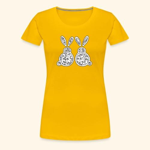 Japanese Inspired Bunnies - Women's Premium T-Shirt