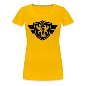 Iran crest - Women's Premium T-Shirt
