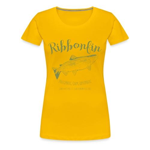 Ribbonfin House (olive) - Women's Premium T-Shirt