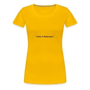 Cries in Norwegian (Skam) - Women's Premium T-Shirt
