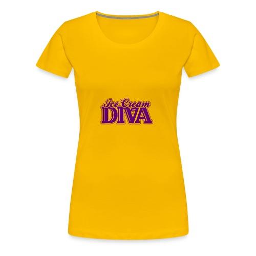 Ice Cream Diva 2 light shirts - Women's Premium T-Shirt