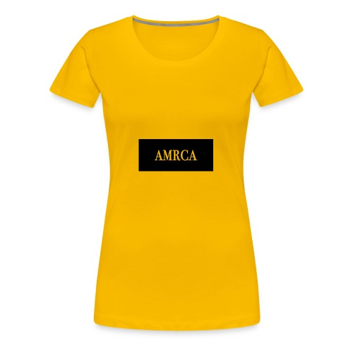 AMRCA Box Logo - Women's Premium T-Shirt