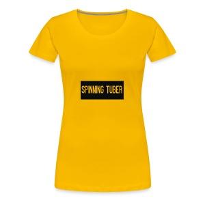 Spinning Tuber's Design - Women's Premium T-Shirt