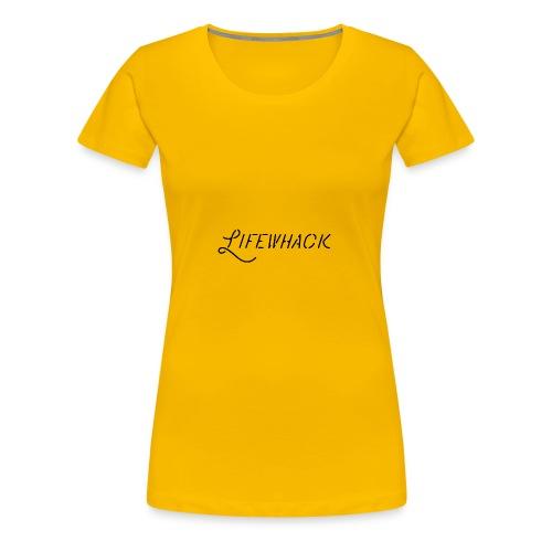 Black Lifewhack Logo Products - Women's Premium T-Shirt