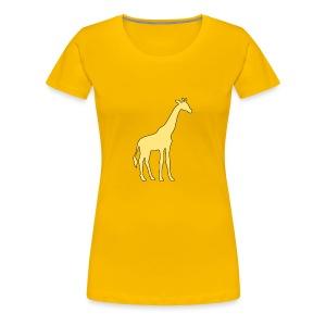 yellow giraffe - Women's Premium T-Shirt