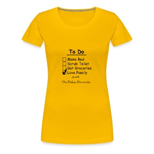 To Do List - One Helluva Homemaker - Women's Premium T-Shirt
