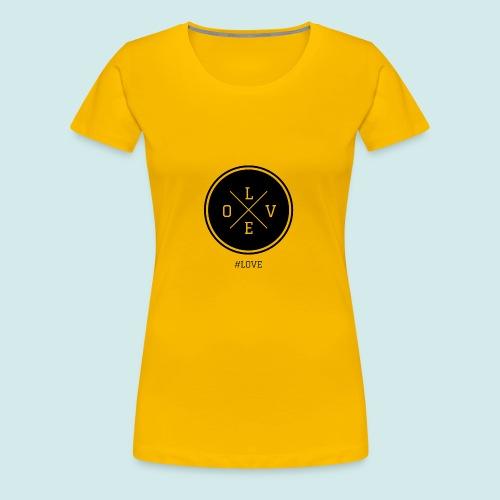 #love black and white - Women's Premium T-Shirt