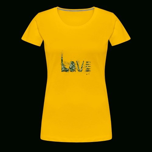 Love and War - Army - Women's Premium T-Shirt