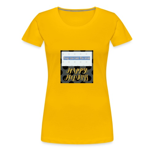 keel me near the cross poster - Women's Premium T-Shirt