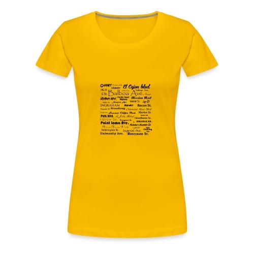 Streets of San Diego - Women's Premium T-Shirt