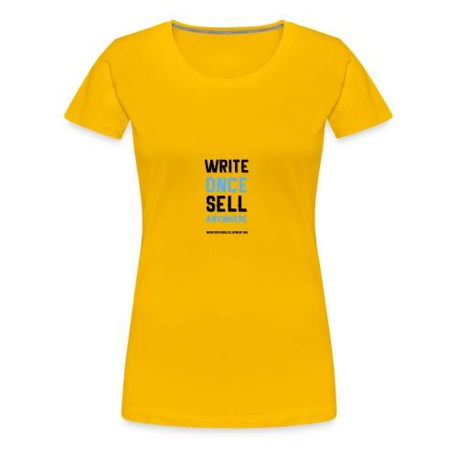 Write Once Sell Anywhere - Women's Premium T-Shirt