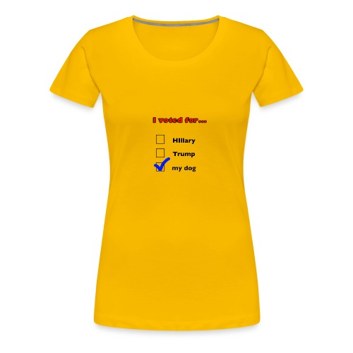 Dog lover political design - Women's Premium T-Shirt