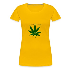Bass Boost 420 Weed Leaf - Women's Premium T-Shirt