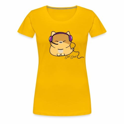 Getgud Gamer Kitty Mug - Women's Premium T-Shirt