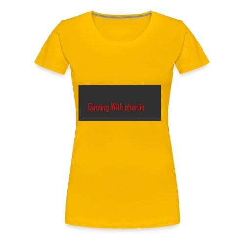 Gaming with charlie merch design - Women's Premium T-Shirt