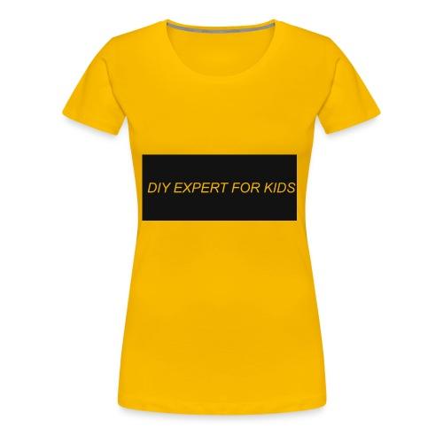 DIY EXPERT FOR KIDS LOGO - Women's Premium T-Shirt