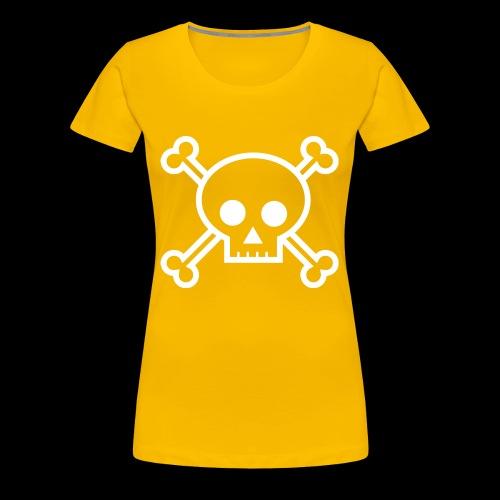 deaths head skull halloween - Women's Premium T-Shirt