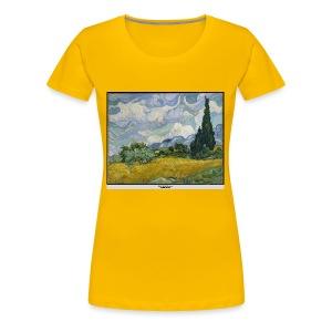 Wheat Field with Cypresses, VAN GOGH - Women's Premium T-Shirt