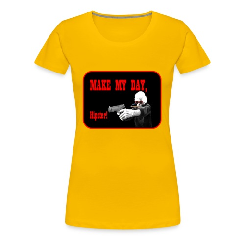 Make my day, Hipster Black/Red - Women's Premium T-Shirt