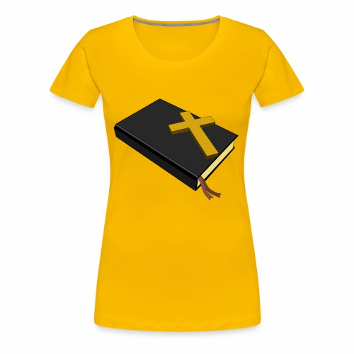 Bible And Cross - Women's Premium T-Shirt