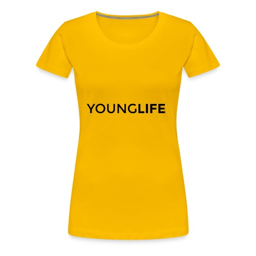 Young Life logo (text)(black) - Women's Premium T-Shirt