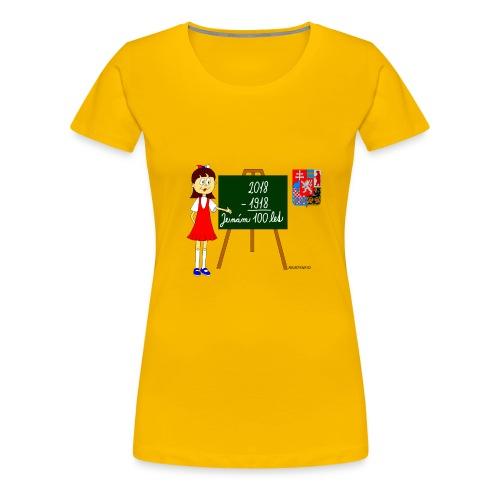 100 years of Czechoslovakia - Women's Premium T-Shirt