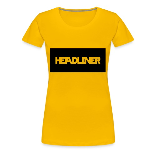 Black And White Headliner Logo - Women's Premium T-Shirt