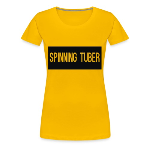 Spinning Tuber's Design - Women's Premium T-Shirt