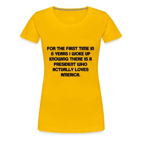 President Loves USA - Women's Premium T-Shirt