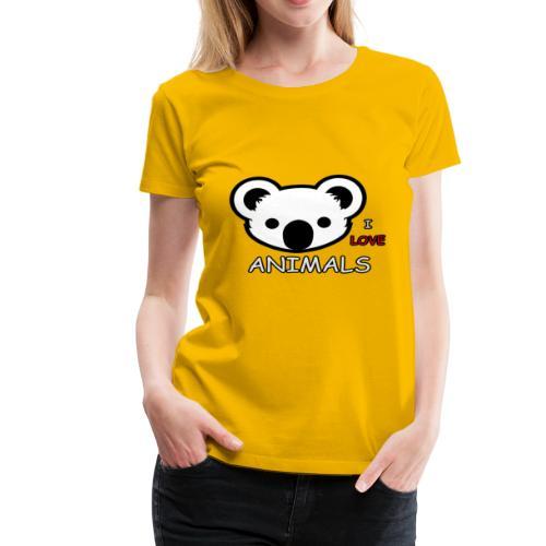 I love Animals - Women's Premium T-Shirt