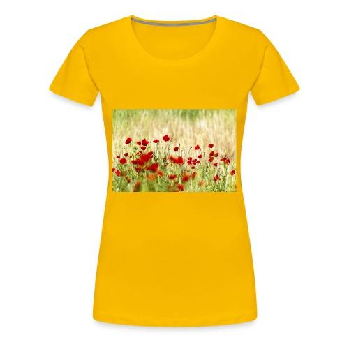 Iranian Poppies - Women's Premium T-Shirt