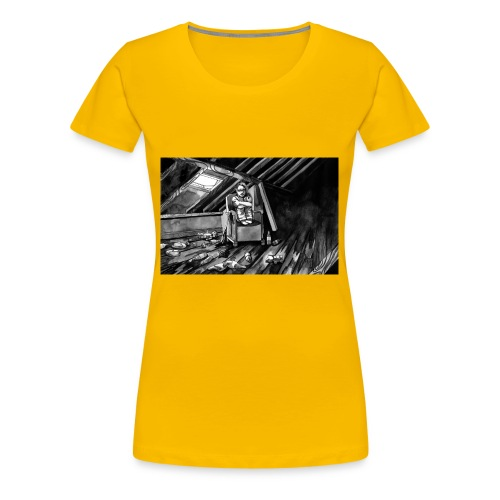 Bex Hiding from Zombies - Women's Premium T-Shirt