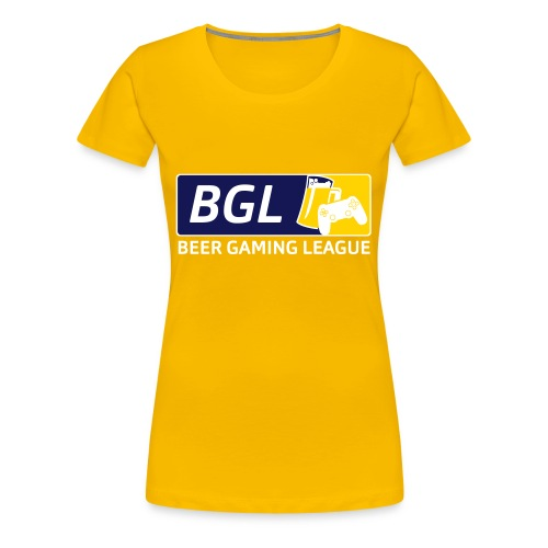 Mens Official Beer Gaming League Shirt - Women's Premium T-Shirt