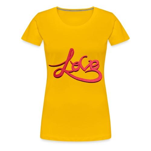 Love Transparent Background - Women's Premium T-Shirt