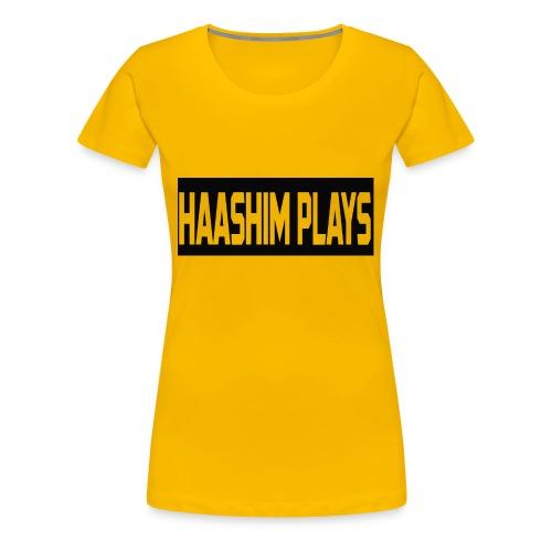 Haashim Plays - Women's Premium T-Shirt