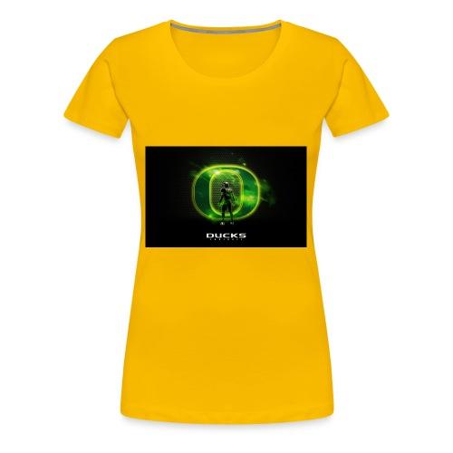 ducks_football_wallpaper - Women's Premium T-Shirt
