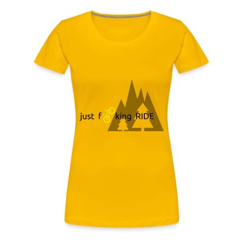 Mountain Biking JFR - Women's Premium T-Shirt