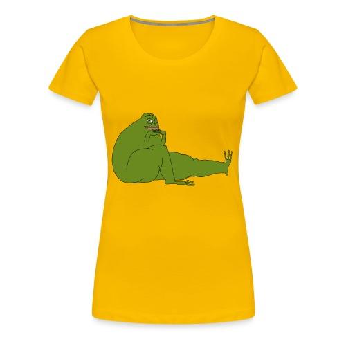 Smug Pepe - Women's Premium T-Shirt
