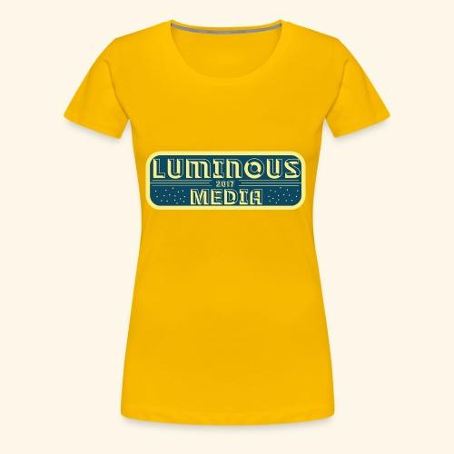 Yellow/Blue Design - Women's Premium T-Shirt