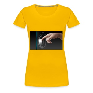 hand working on modern technology G1L0zcHd - Women's Premium T-Shirt
