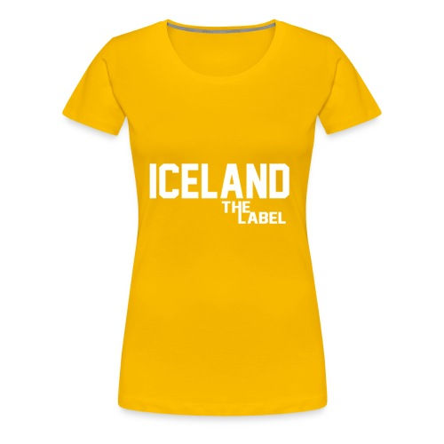 iceland_the_label_printable - Women's Premium T-Shirt